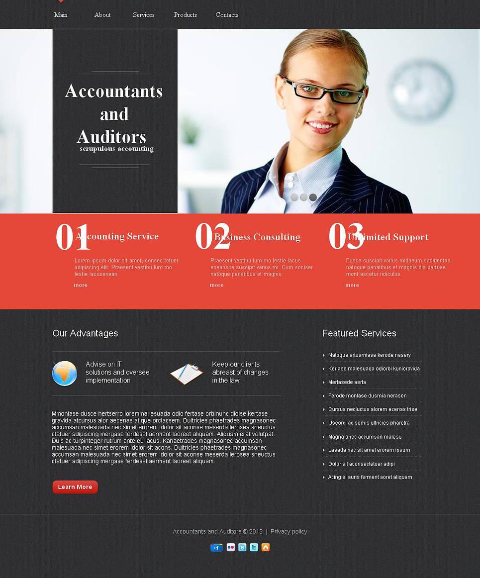 Black Website Template for Auditors - image
