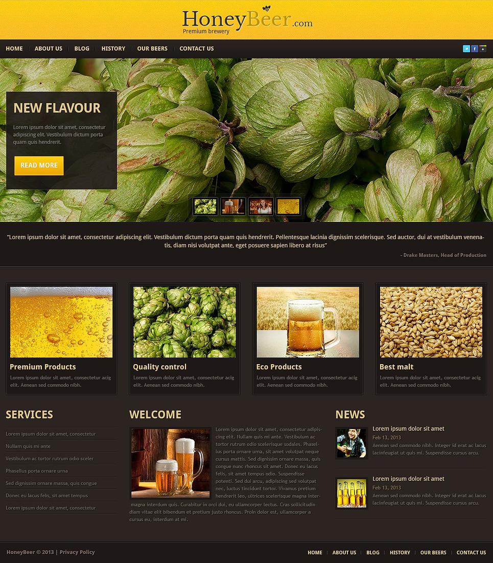 Honey Beer - Fascinating Premium Responsive WordPress Brewery Theme