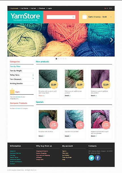 Yarn store - Elegant Magento Handi-crafts Theme