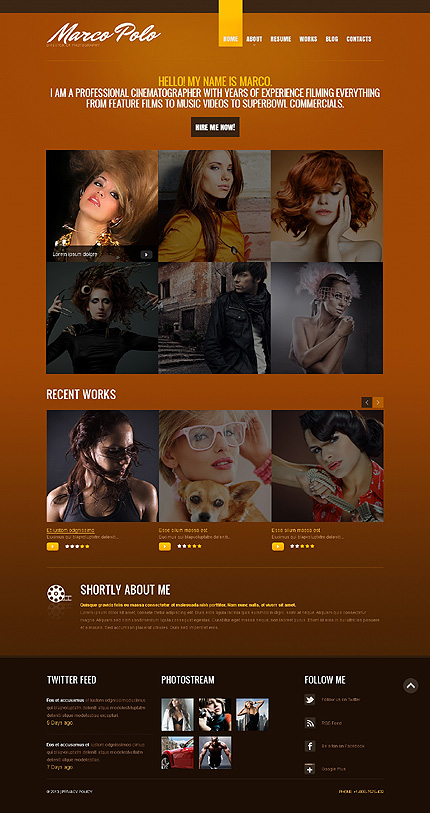 Marco Polo - Responsive Drupal Photography Portfolio Template