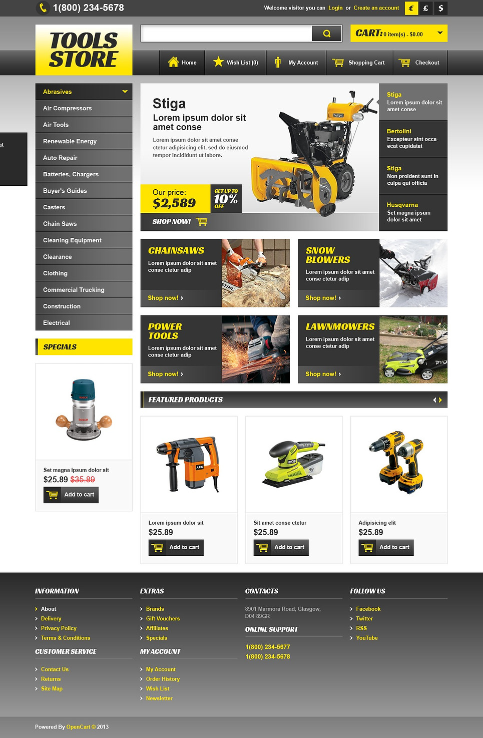 Wide 2 Dynamic Width Opencart Template Shopthemer Free Opencart