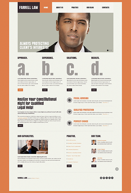 White Law Firm Website Template by Sawyer - Bootstrap Responsive ...