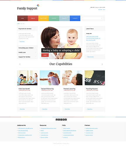 White Family Center Website Template by Astra – Bootstrap Responsive ...