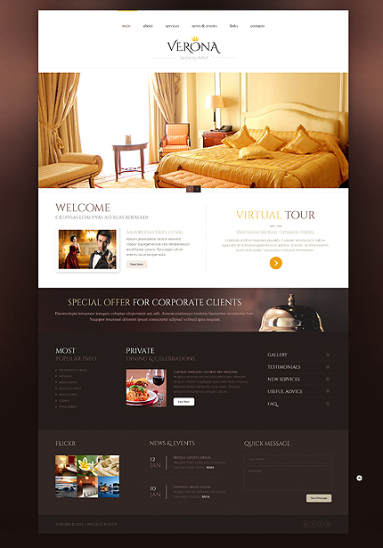 Black White Hotels Website Template By Delta Bootstrap