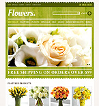 Responsive Flowers Store - PrestaShop Theme #44317 by Elza