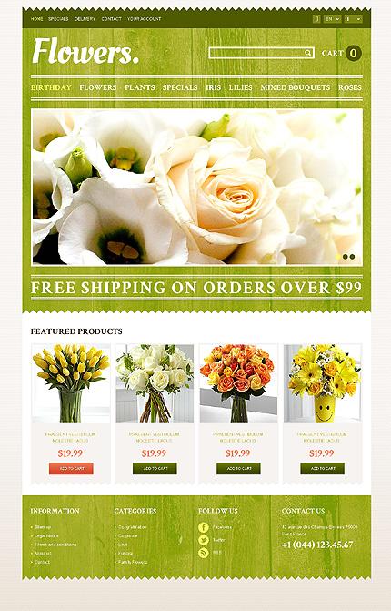 Flowers - Refreshing Flowers Store PrestaShop Theme