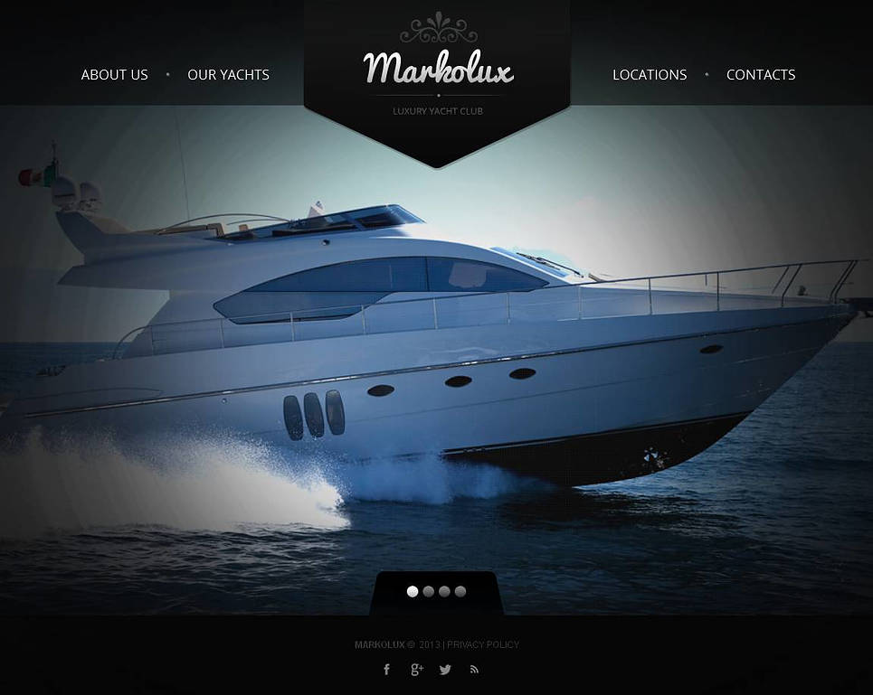 Yachting Website Template with Slideshow Gallery - image
