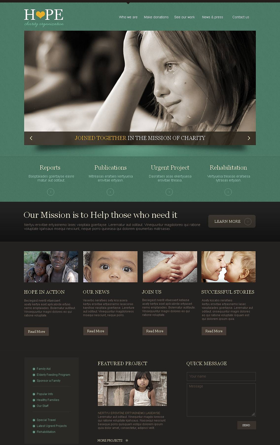 Charity Template with jQuery Slider - image