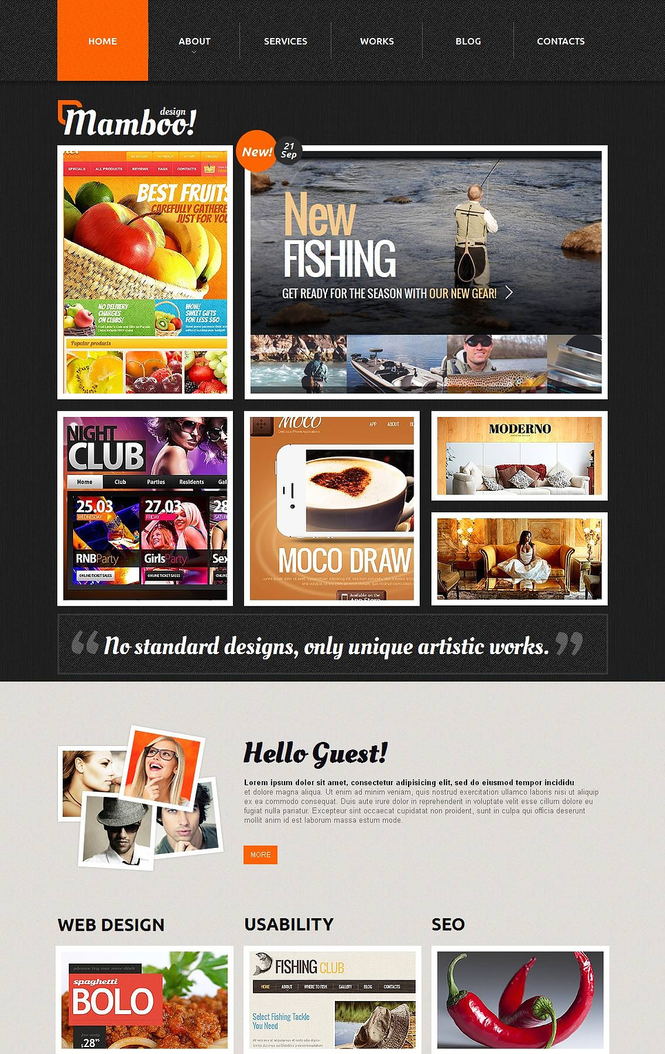 Web Design Portfolio Website Template - image