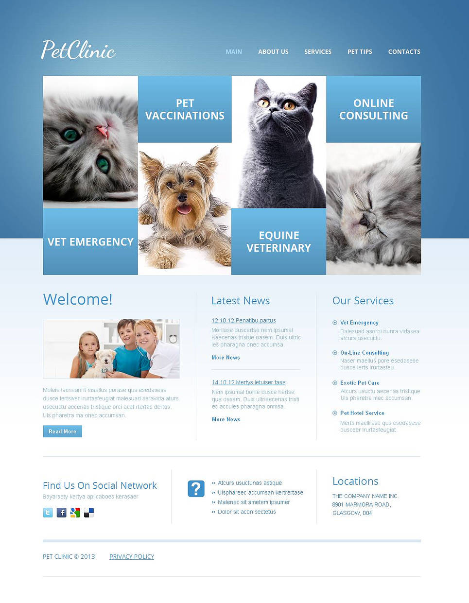 Veterinary Website Template for Pet Clinics - image