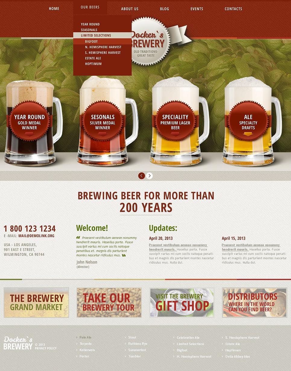 Docker's brewery -  Pleasuring  Responsive WordPress Brewery Theme