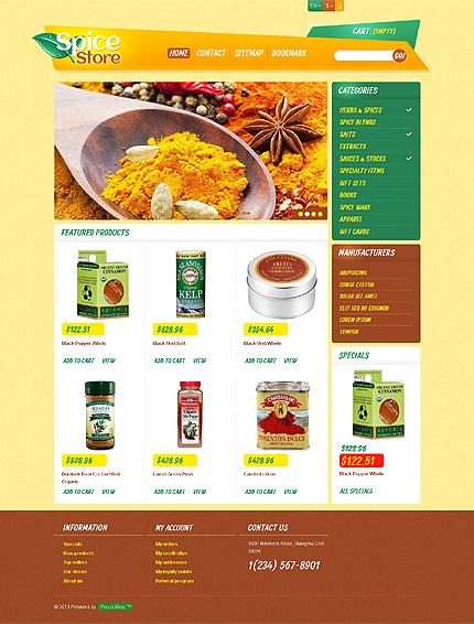 Spice store - TopMost Responsive Spices Store PrestaShop Theme