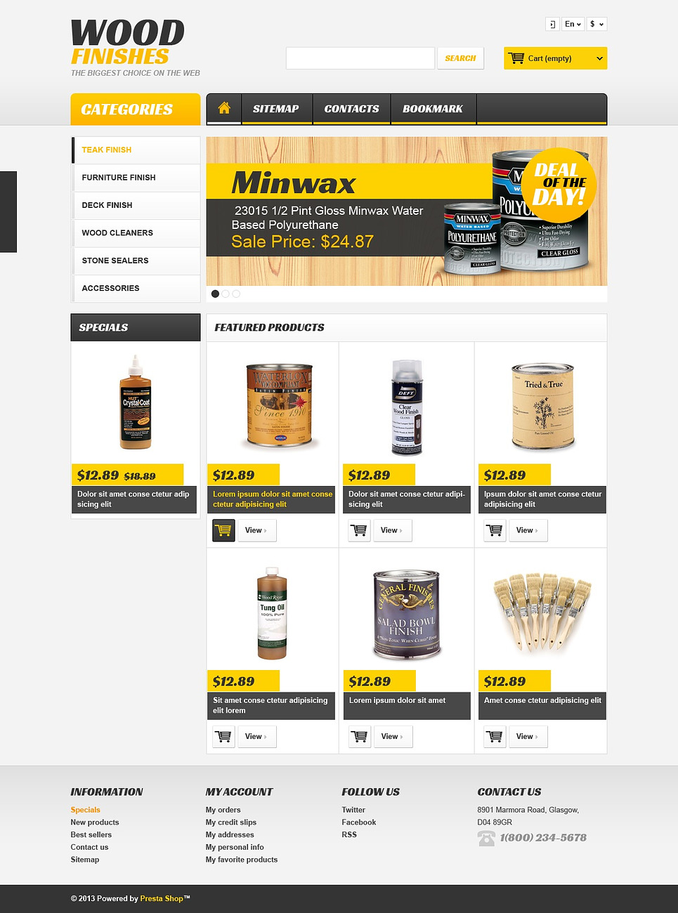 Excellent Responsive Wood Finishes Store PrestaShop Theme