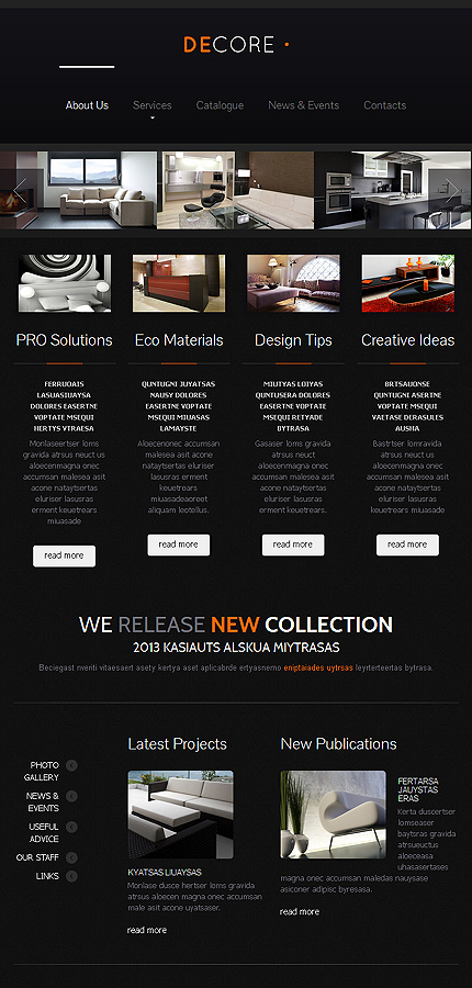Interior Design Responsive Website Template Web Design Templates Website Templates Download
