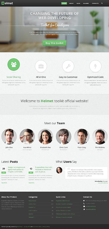 Demo Preview for Helmet - Trending WordPress Responsive Theme for Web Development Companies