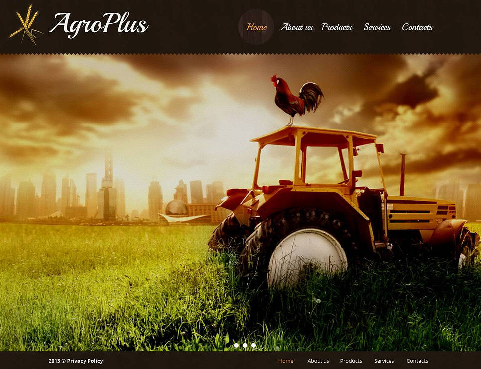 Agriculture Website Template with CMS - image