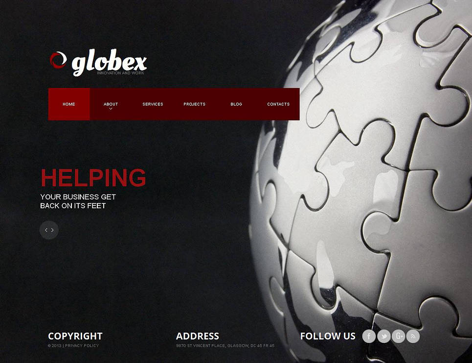Black Web Template for Marketing Agencies - image