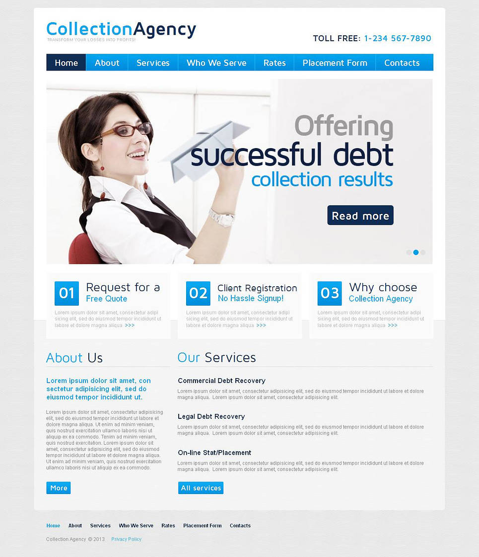 Financial Advising Website Template with Content Slider - image