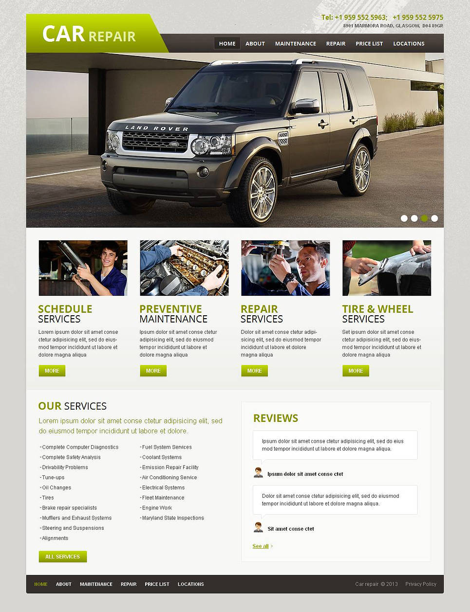 Car Repair Website Template for Lucky Businessmen - image