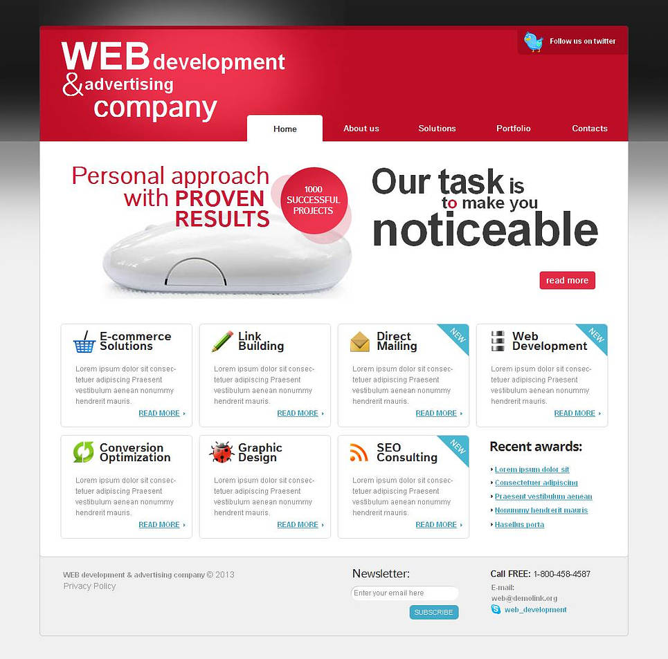 Website Template for Advertising Companies - image