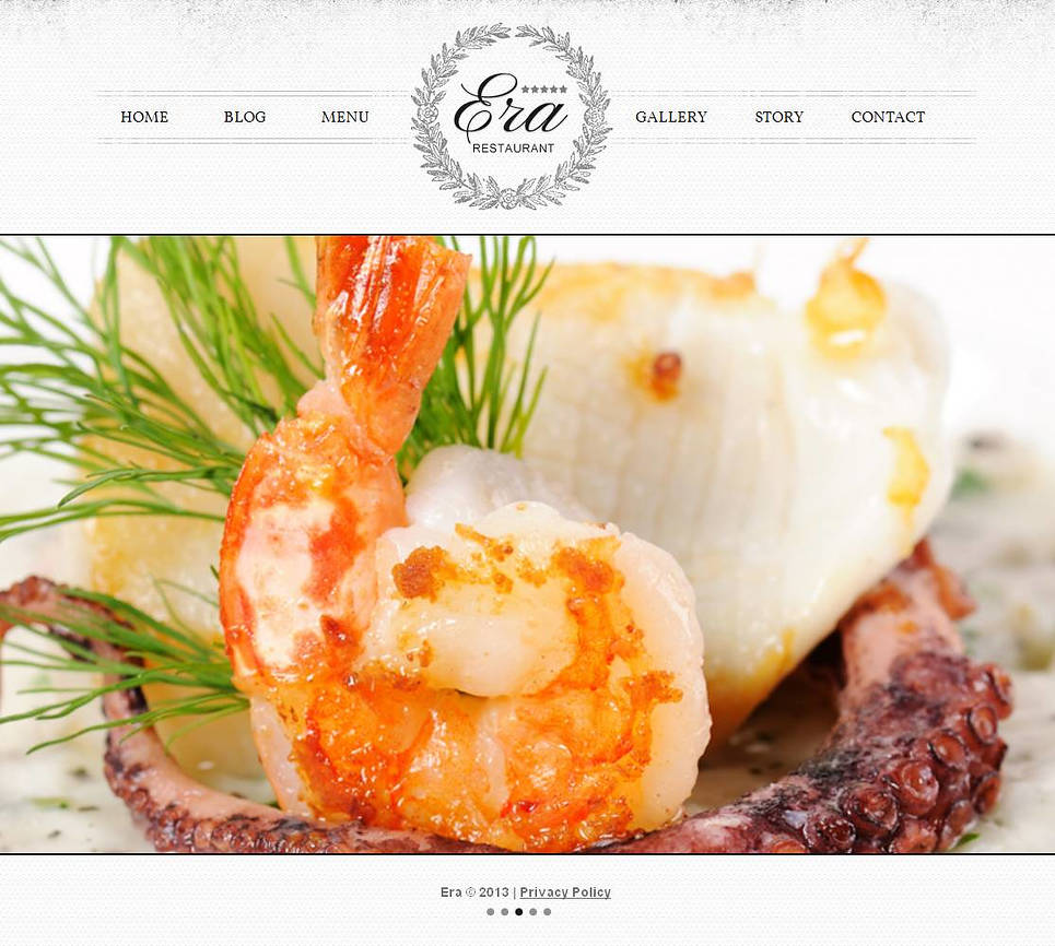 Restaurant Website Template with Sliding Galleries - image
