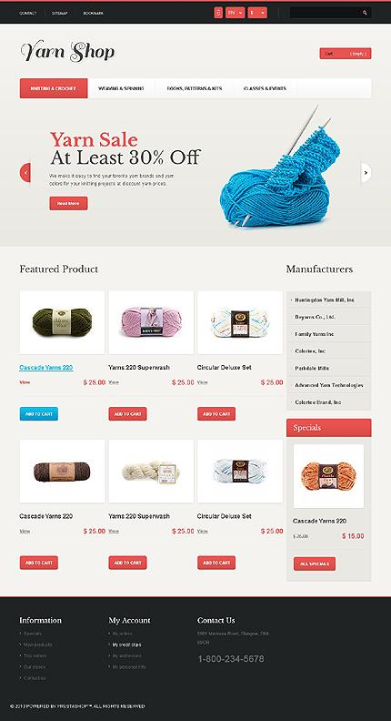 Yarn shop - Best Responsive Crafts PrestaShop Theme