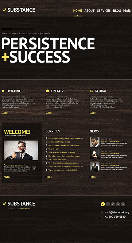 Demo Preview for Substance Management Company WordPress Theme