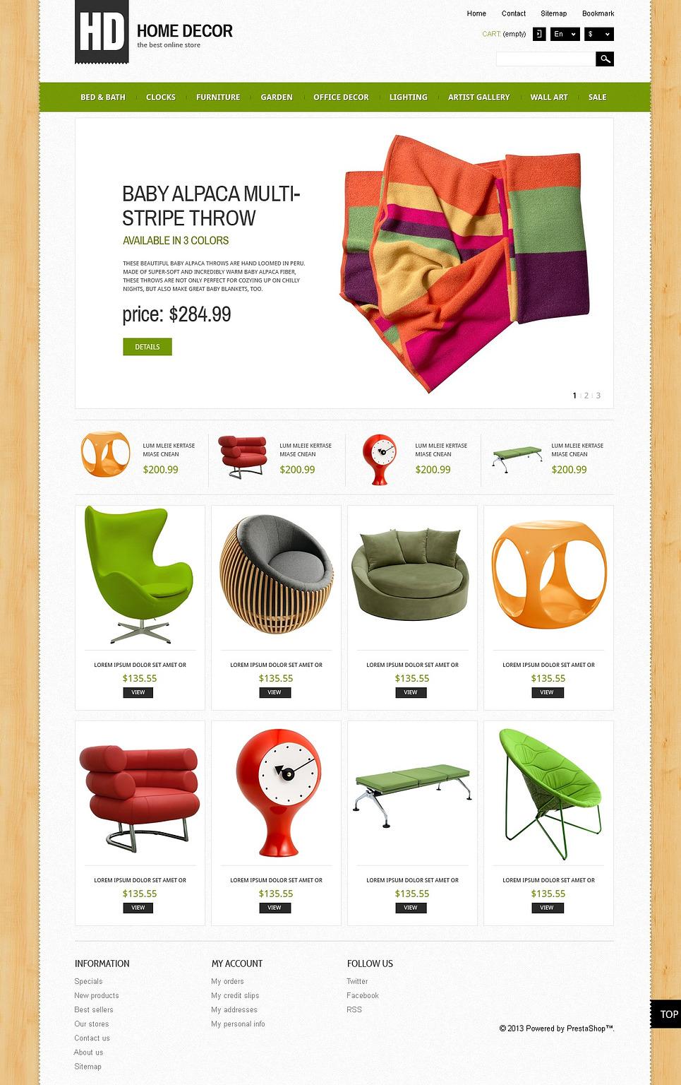 Best Responsive Home Decor Store PrestaShop Theme