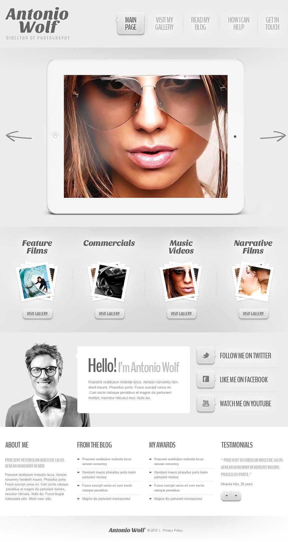 Light Art and Photography WordPress Portfolio Theme