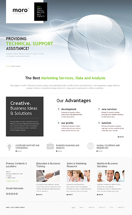 Demo Preview for High Tech Business - Resposive WordPress Theme for Corporate Companies