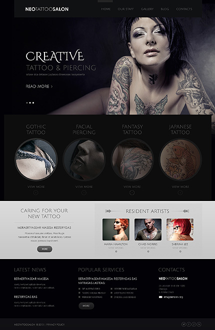 Creative - Best Joomla Responsive Templates For Beauty and Fashion