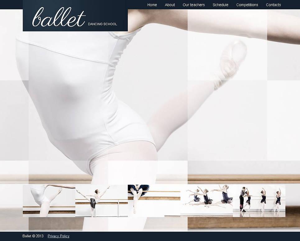 Ballet Dance School Website Template - image