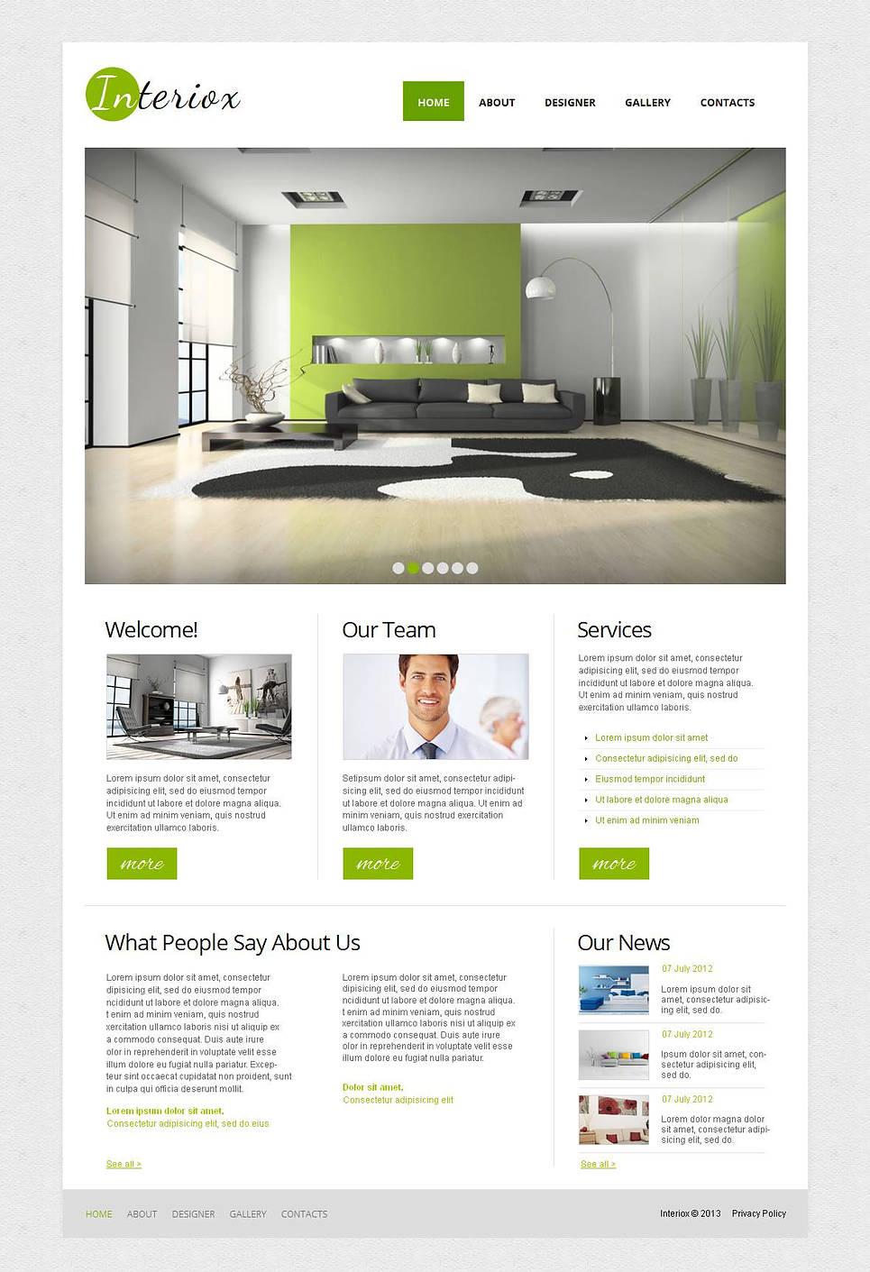Minimalist Web Template for Interior Design Studios - image
