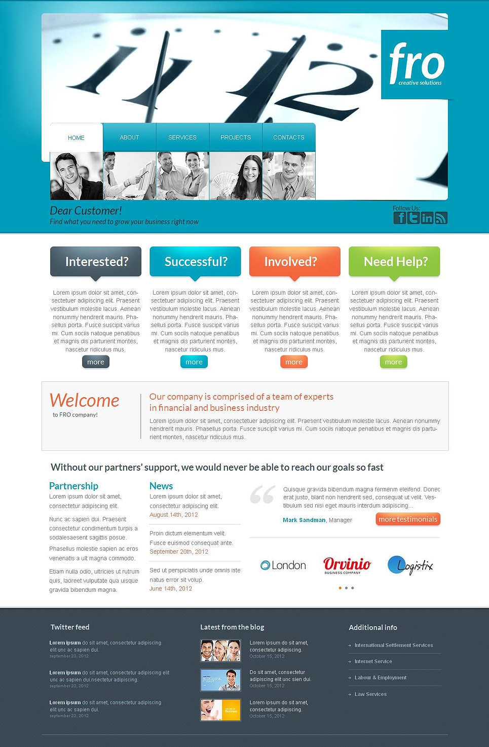Business Website Template with Creative Navigation - image