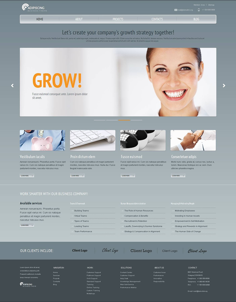 Business Website Template with Sliding Image Gallery - image