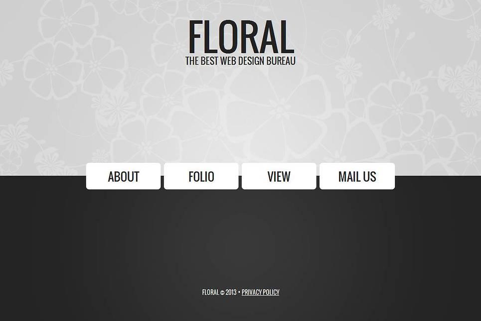 Minimalist Black and White Template for Web Design Studio - image