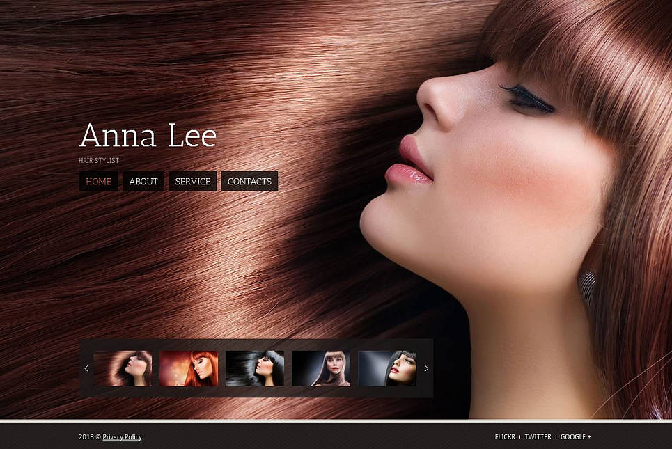 Hair Stylist Personal Portfolio Website Template - image