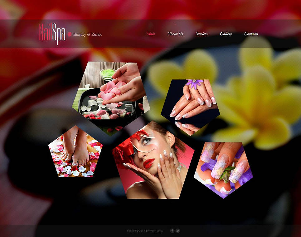 Beauty Website Template for Nails Salon - image