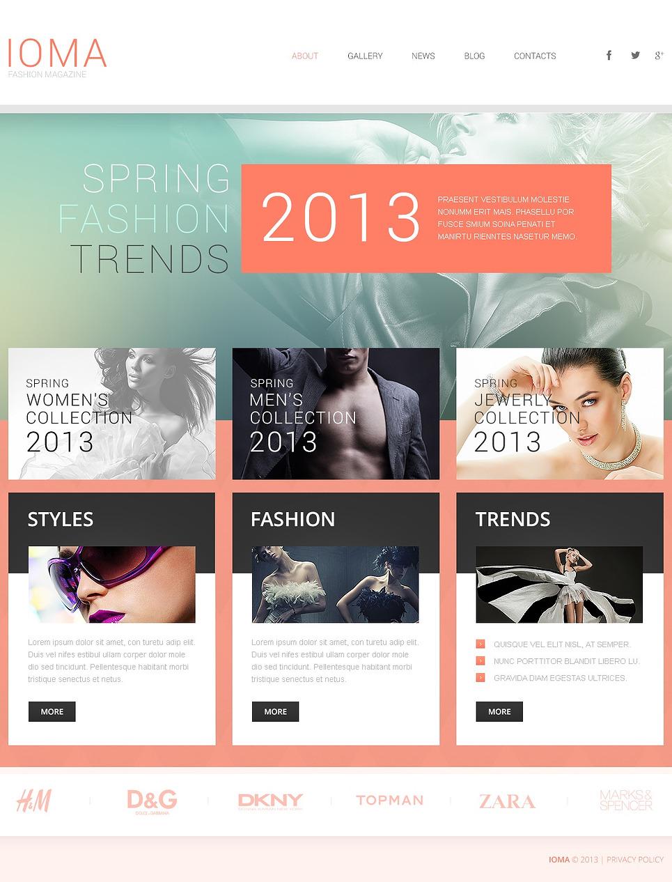 Modern Fashion WordPress Theme New Screenshots BIG