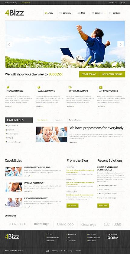 Demo Preview of White Space Marketing Agency - Corporate Business Theme for WordPress Powered Companies Websites