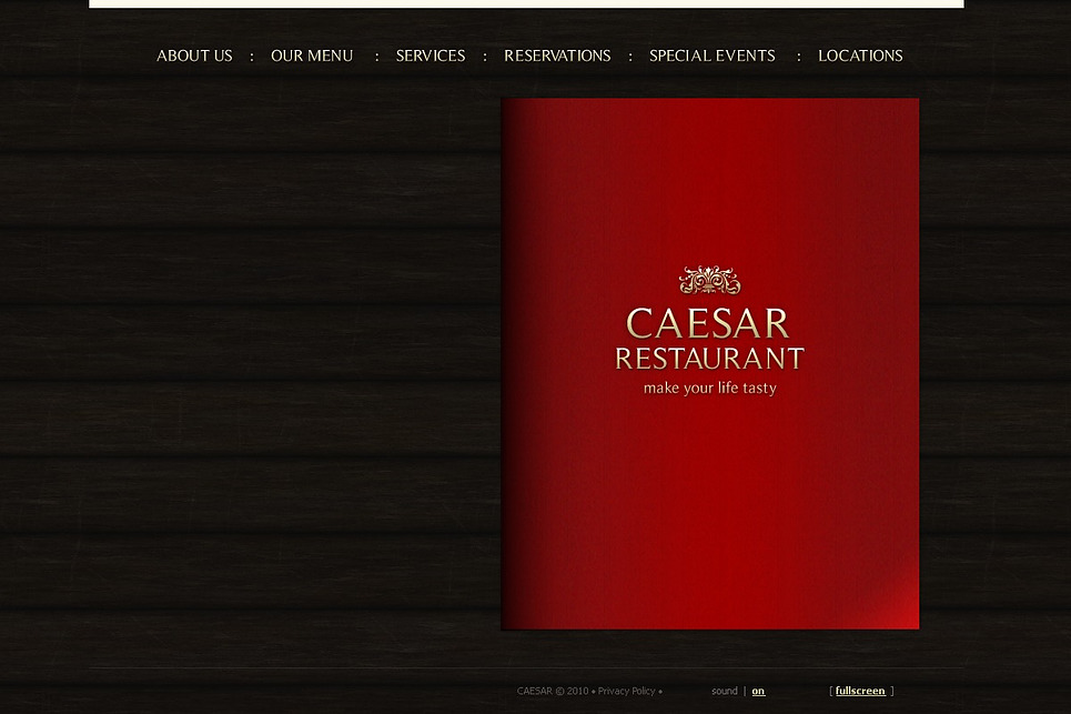 Cafe and Restaurant Flash CMS Template