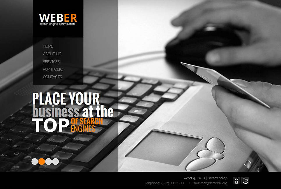 Search Engine Optimization Website Template with Transparent Pages - image
