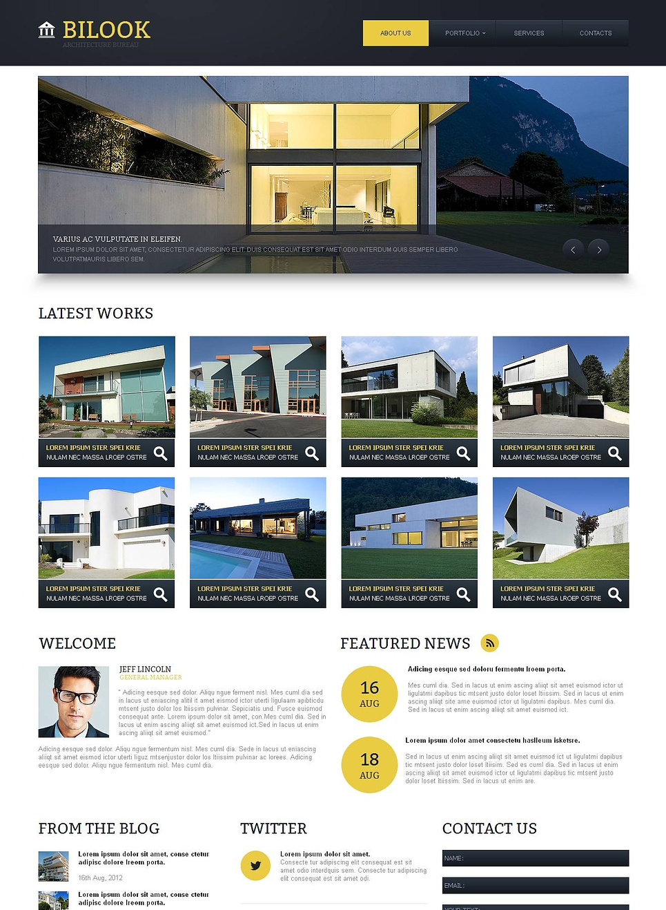 Architecture Bureau Website Template with Photo Gallery - image