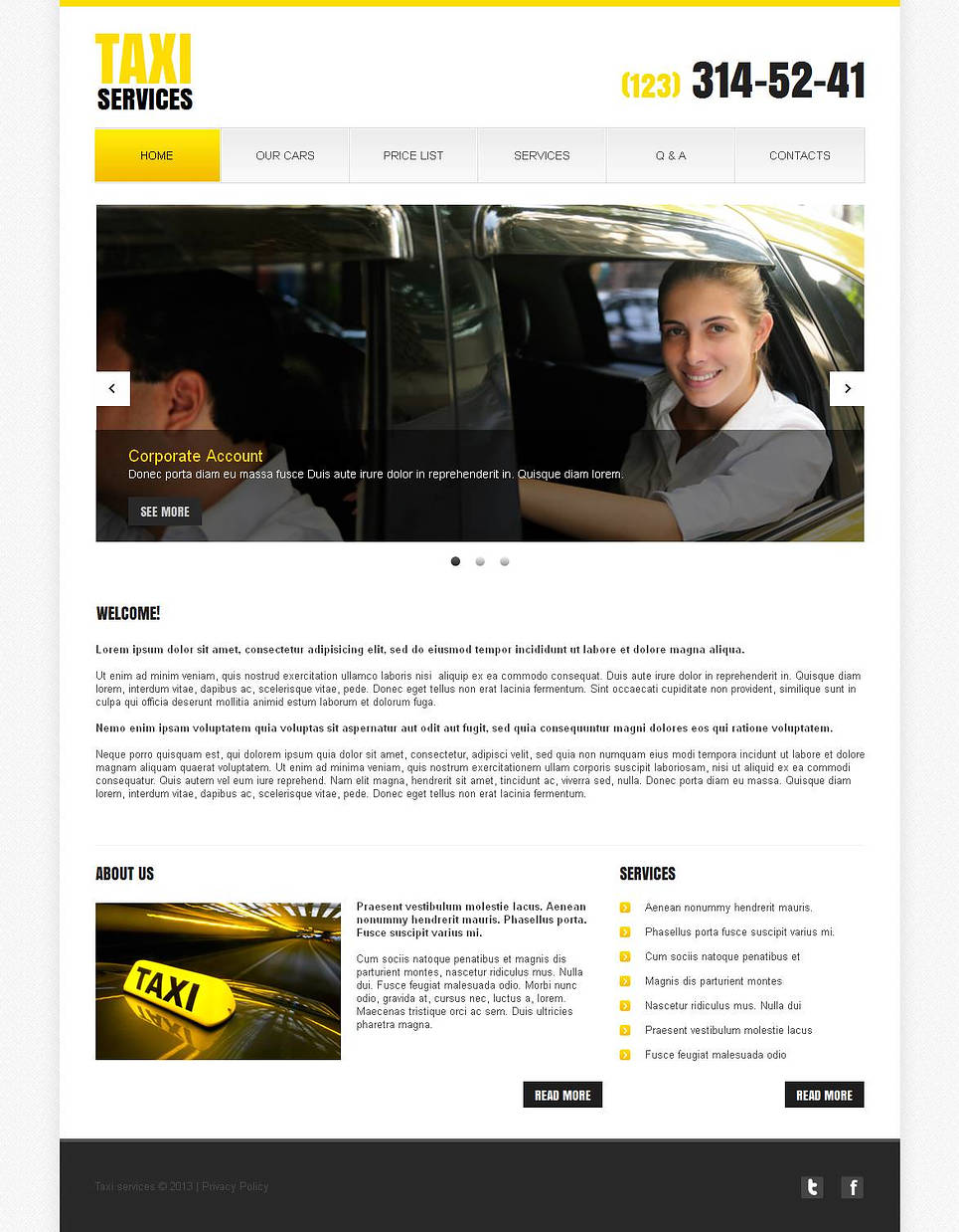 Minimalist Website Template for Taxi Services - image