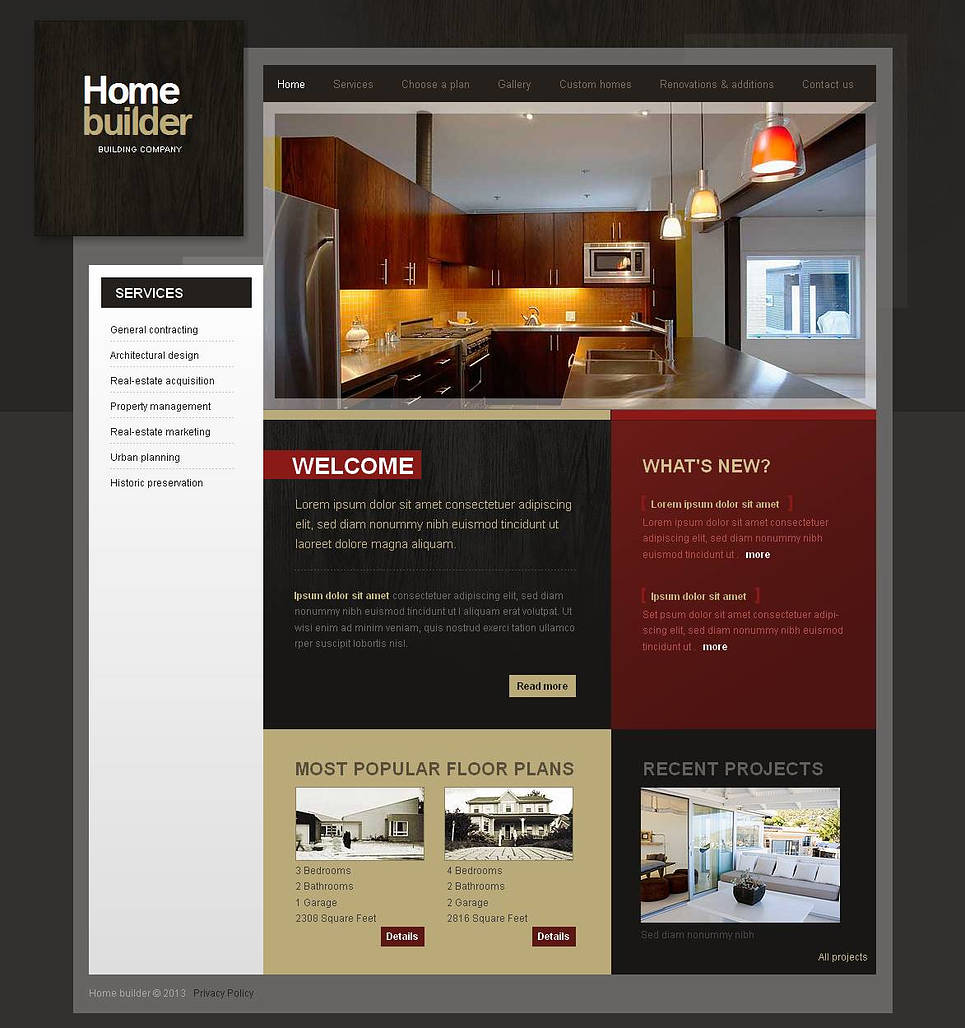 Building Company Template with Creative Design - image