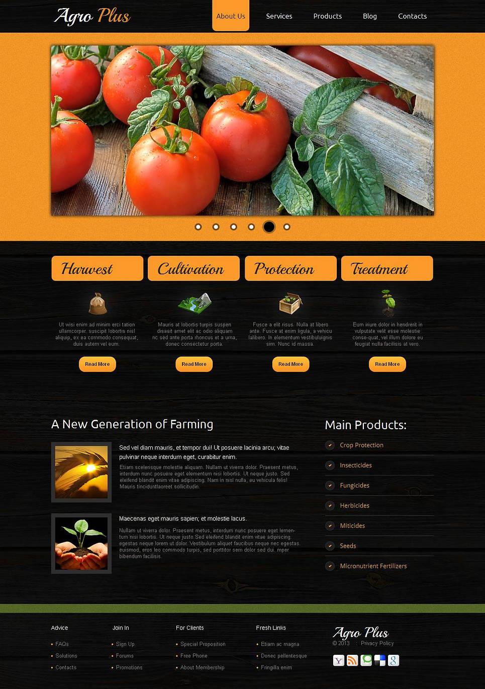 MotoCMS HTML Szablon #44713 z kategorii Rolnictwo - image