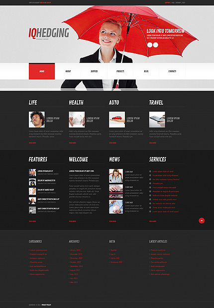 Demo Preview for IQ hedging - Corporate WordPress Theme for Insurance Business Websites