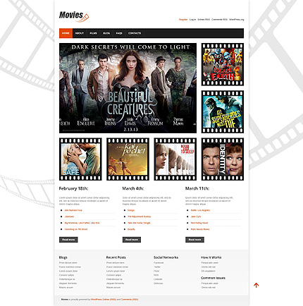 View live Demo for Movies – A WordPress Fully Responsive Theme