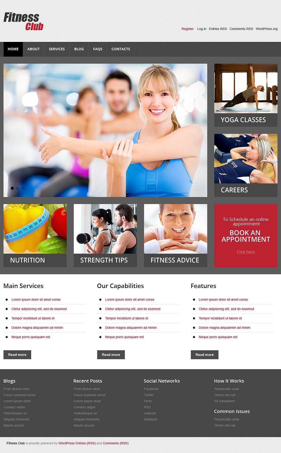 Fitness Club Responsive WordPress Theme