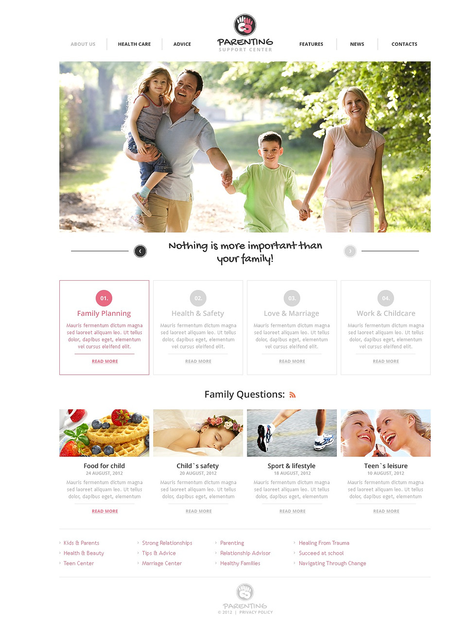 Family Flash CMS Template